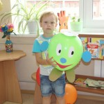 Медведев Данил и мама Евгения Сергеевна - украшение воздушного шара